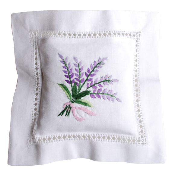 Lavender Bouquet Hand Embroidered Lavender Sachet Made in France