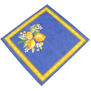 Lemons Blue Cotton Napkin