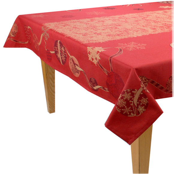 Mer de Glace Jacquard Tablecloth - choose your size