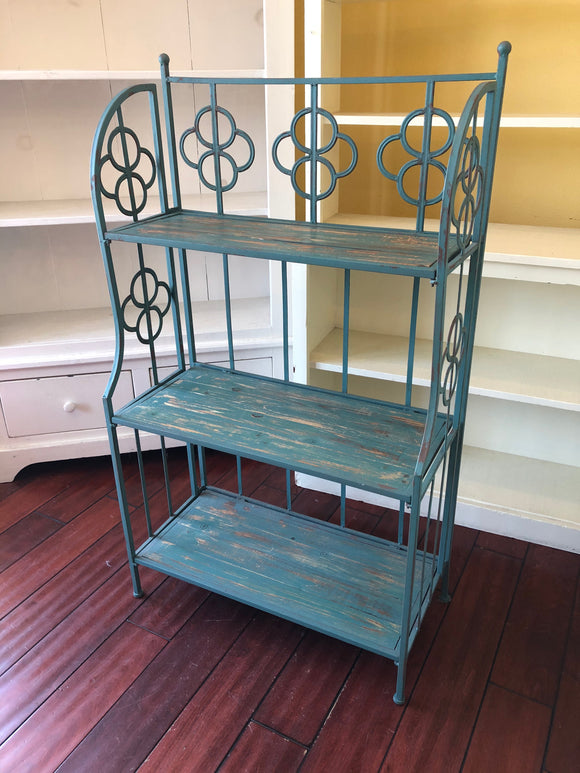 Blue Metal Folding Shelf