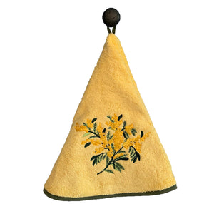 "Mimosa Yellow 28"" Round Terry Dishtowels"