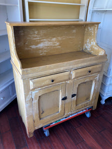 Antiqued Mustard Buffet from Crawfords Antiques