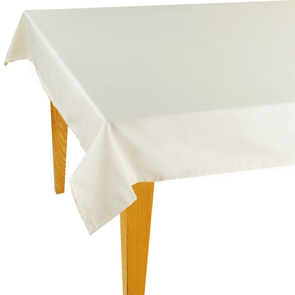 Cream Solid Jacquard Tablecloth - choose your size