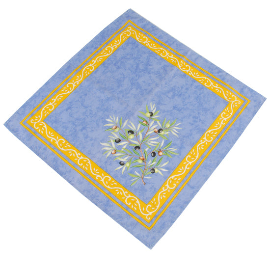 Olive Baux Blue Cotton Napkin
