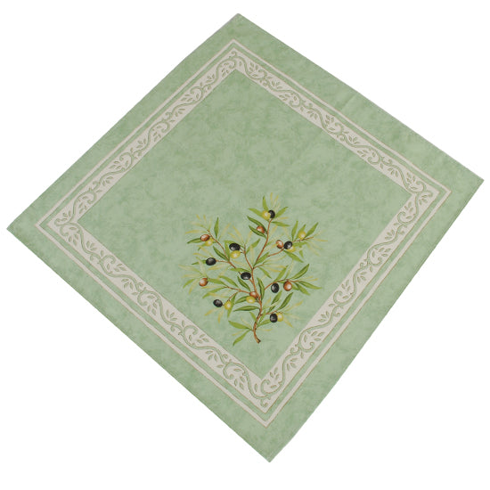 Olive Baux Green Cotton Napkin