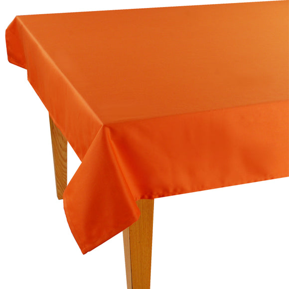 Orange Solid Jacquard Tablecloth - choose your size