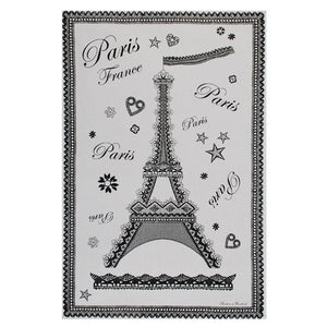 "Noir Tour Eiffel 19""x28"" Cotton French Image Dishtowel"