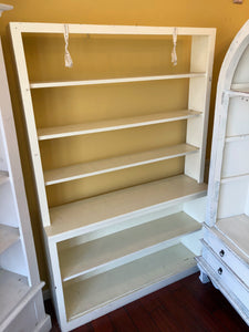 White Open Back Bookshelf