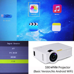 Newest S90 S90wifi Mini LED Home Cinema Projector Android