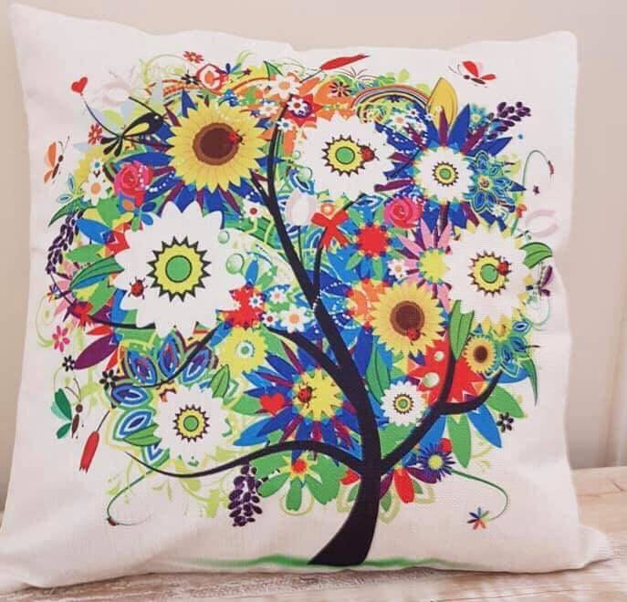 Colourful Tree Pillow Case