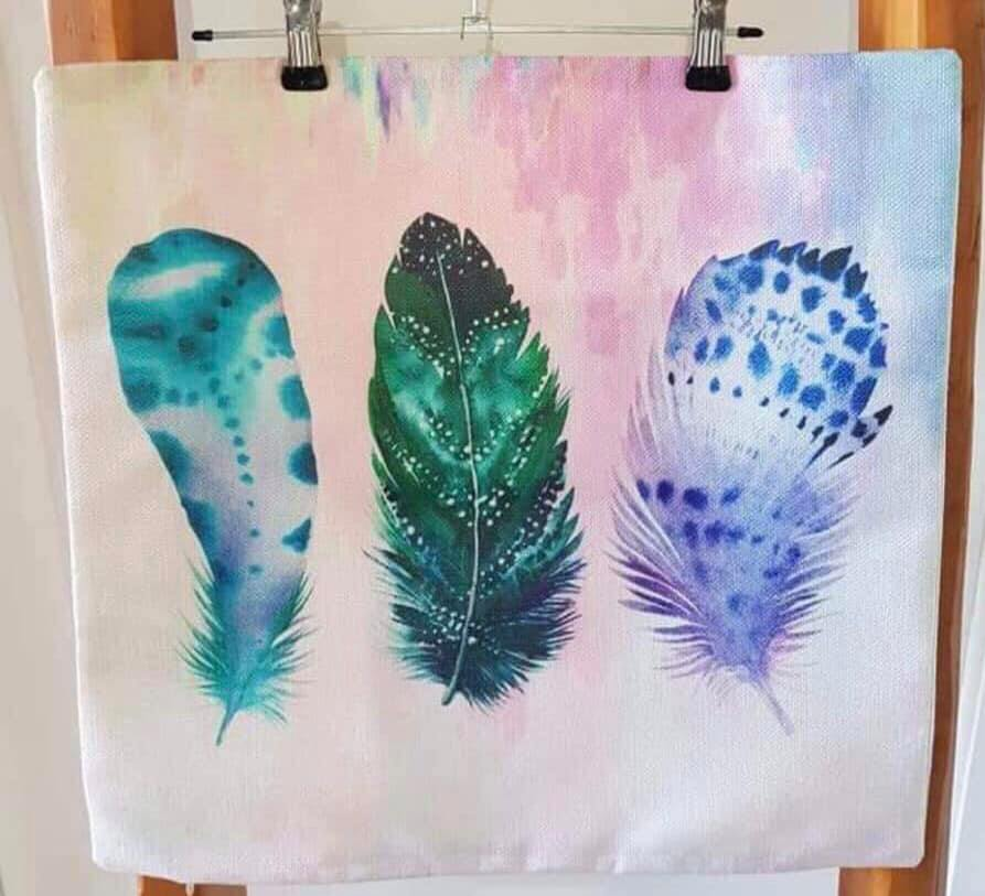 Trio Feathers Pillow Case