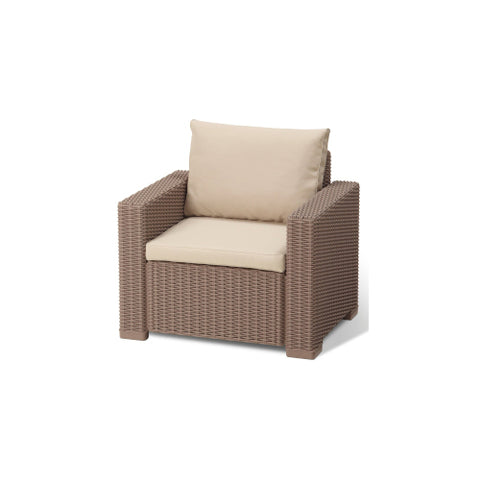 One Seater Chair Synthetic Rattan Style