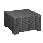 Coffee Table Synthetic Rattan Style - Black