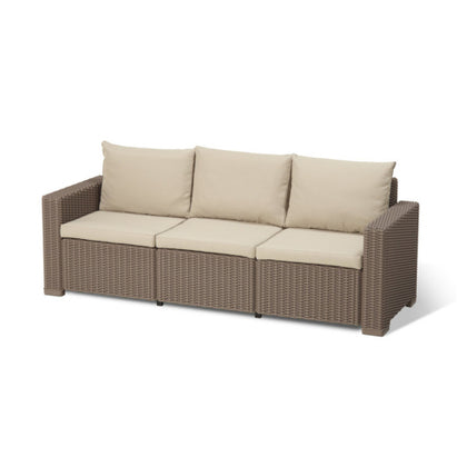 Three Seater Sofa Synthetic Rattan Style