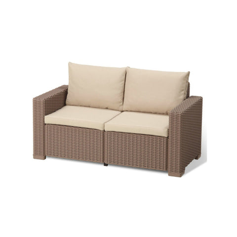 Two Seater Sofa Synthetic Rattan Style