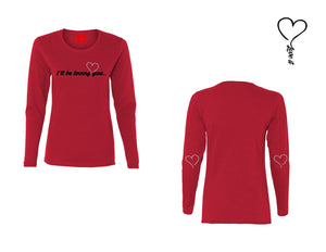 "T-shirt manches longues ""I'LL BE LOVING YOU"" femme"