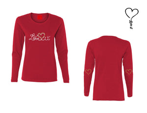 "T-shirt manches longues ""LOVE IT"" femme"