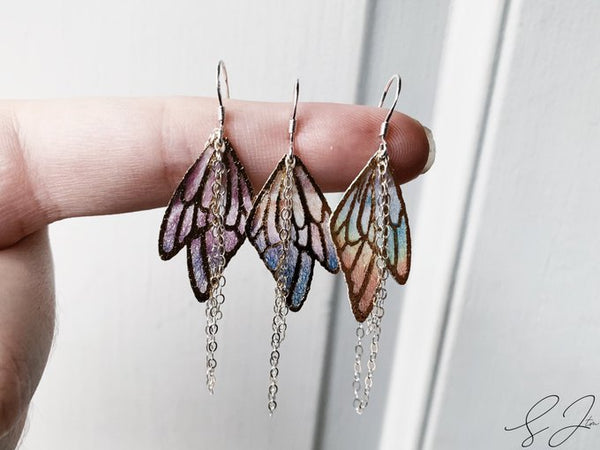 'All of The Colors' Butterfly Wing Earrings