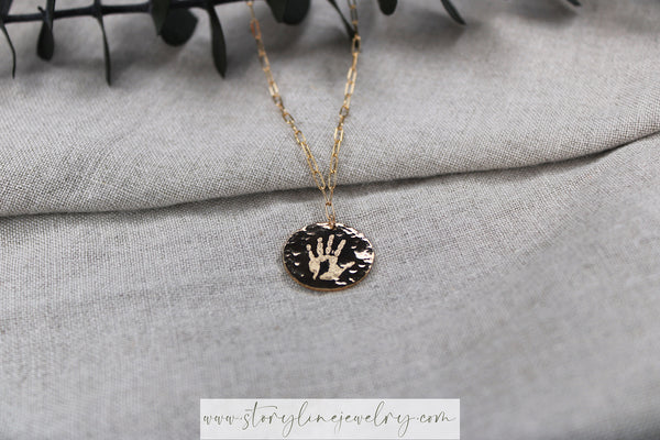 The Handprint Necklace {gold-filled}