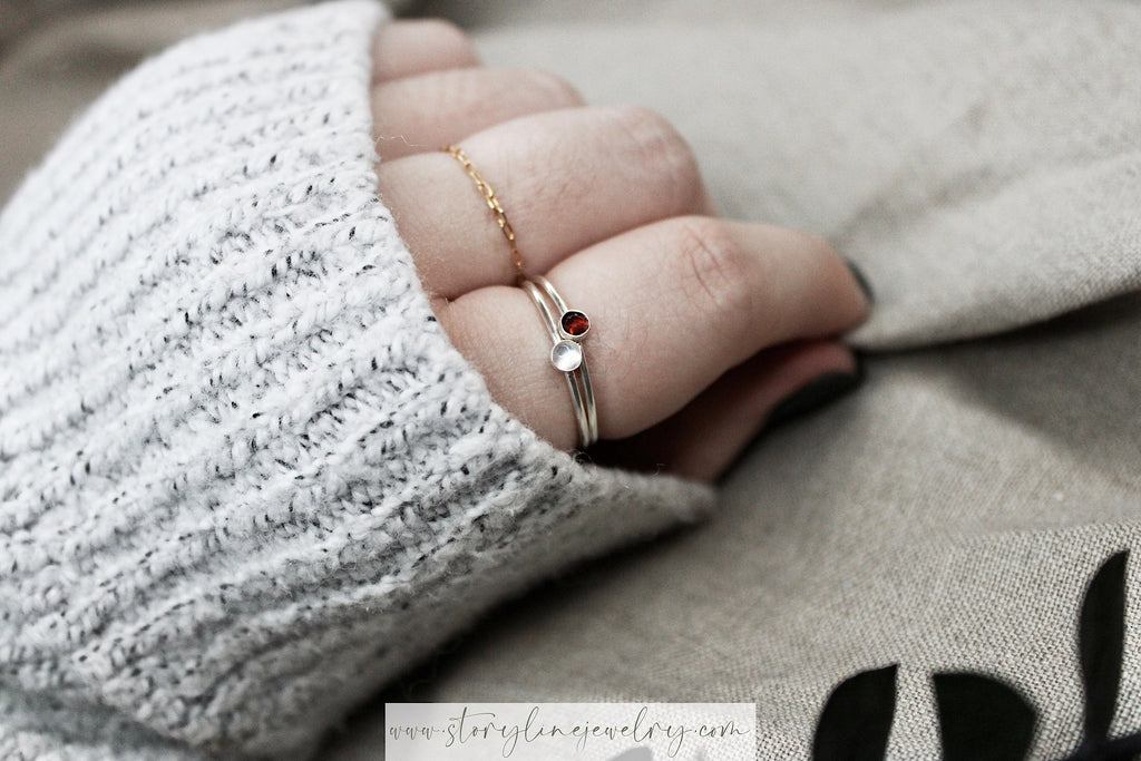 The Burning Red Stack Ring {Eras Collection}