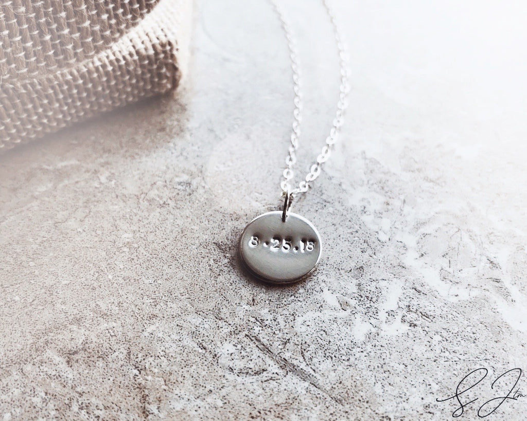 The Date Disc Necklace