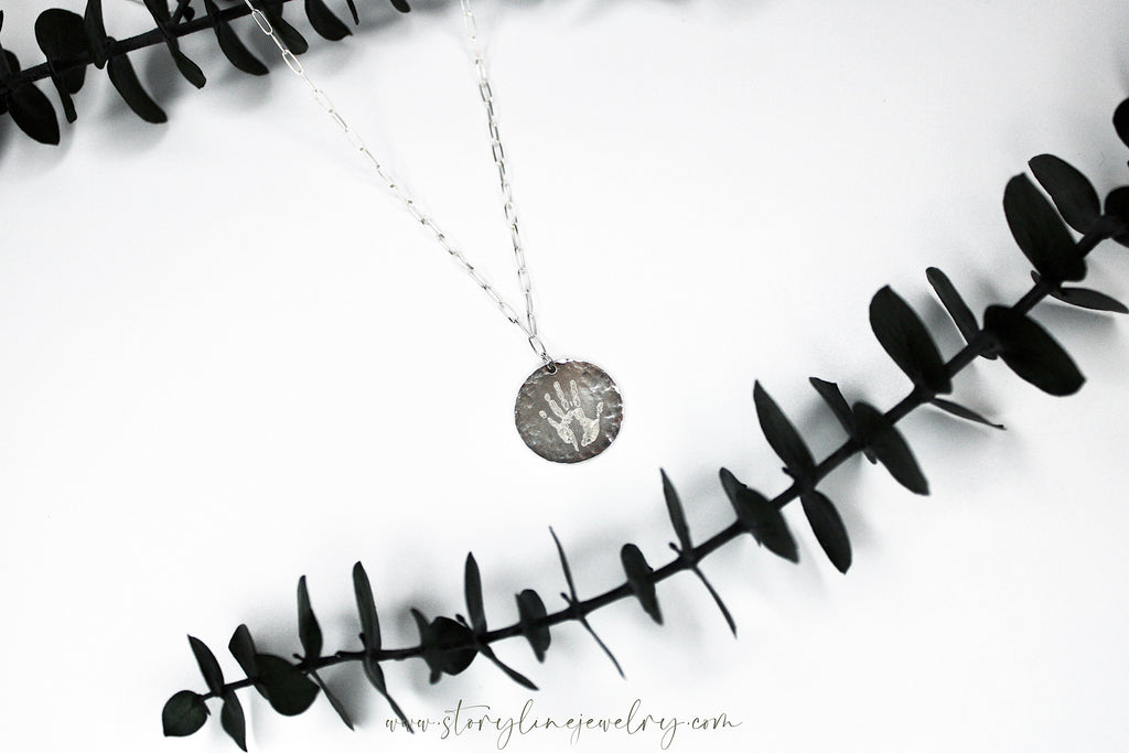 The Handprint Necklace {sterling silver}