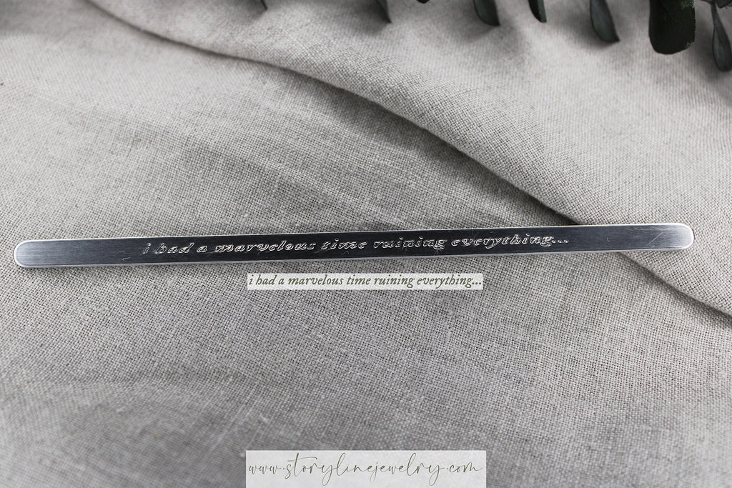 "The ""Marvelous Time"" Lyric Cuff Bracelet"