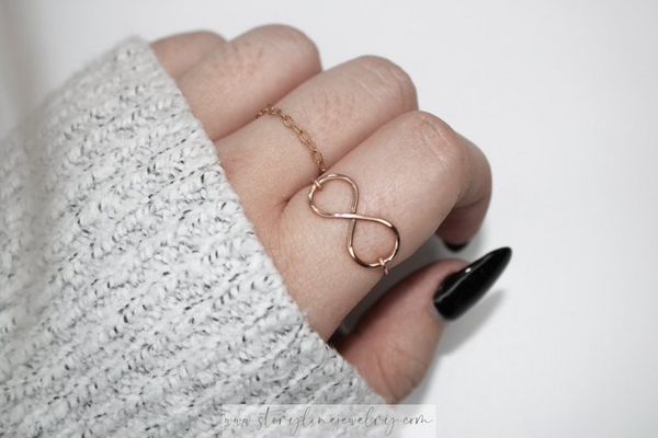 The Infinity Ring {Rose Gold Filled}