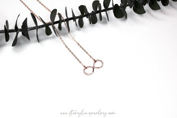 The Infinity Neckace {Rose Gold Filled}