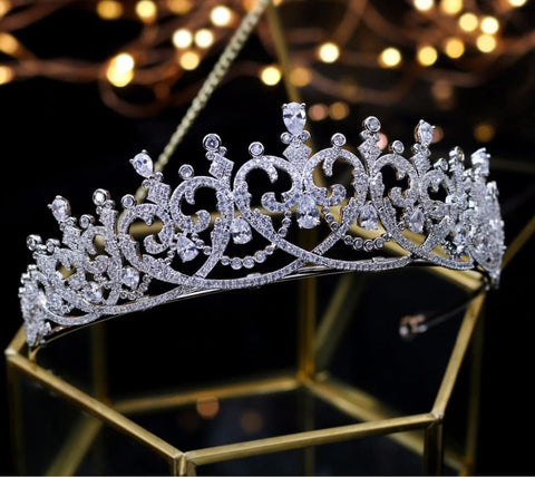 Baroque Luxury Crystal Bridal Crown