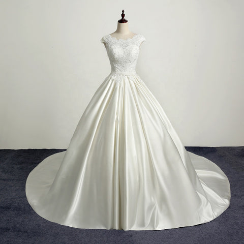 Luxury Satin Ball Gown, Bridal Luxury Ball Gown, ANNABELLE