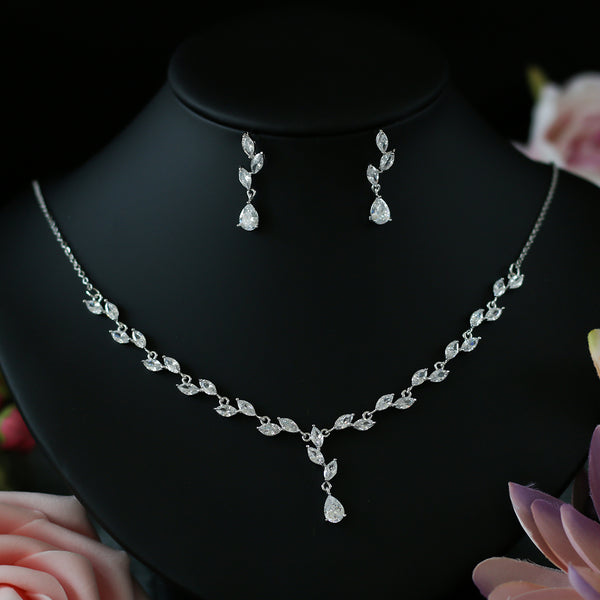 Cubic Zirconia 4 Piece Wedding Jewelry Set