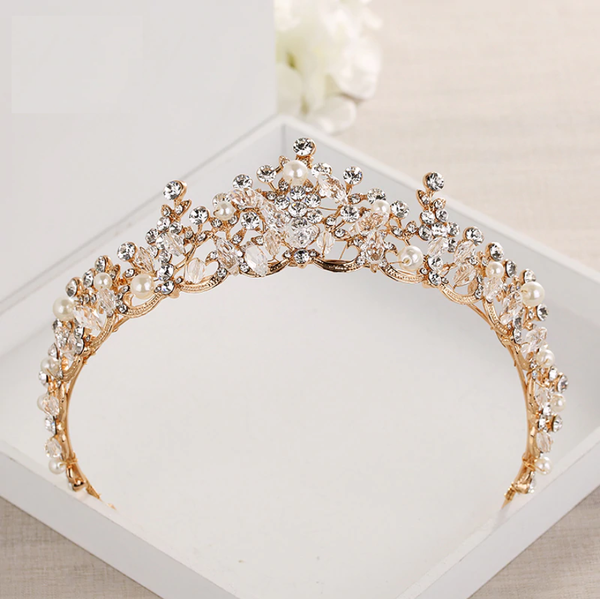 Crystal Gold Tiara
