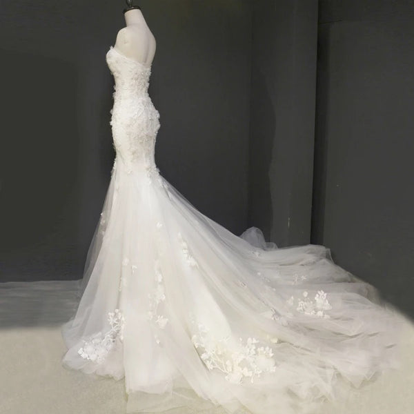 3d floral wedding dress