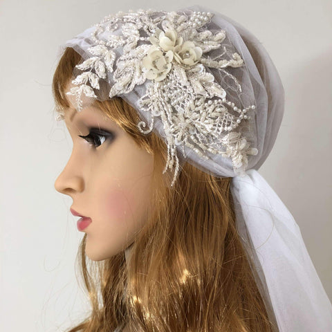 cap wedding veil