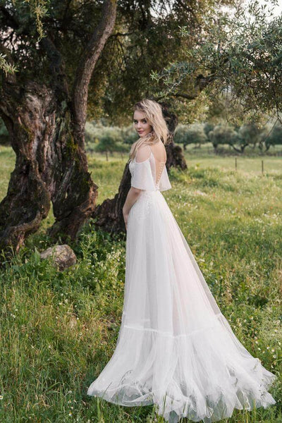 modern boho wedding dress