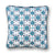 Blue Foulard Throw Pillow