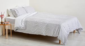 GRAY LATTICE DUVET COVER