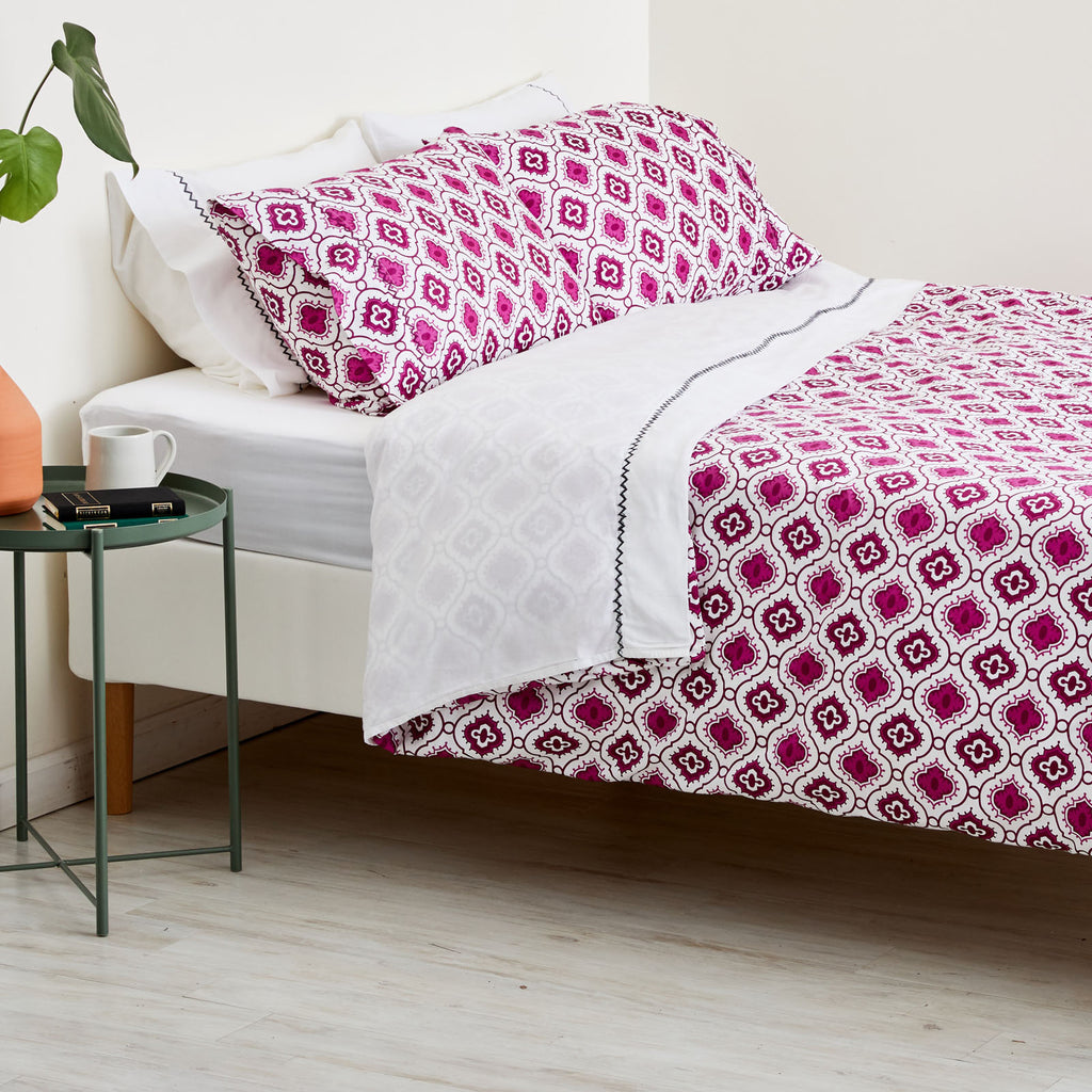 PURPLE OGEE DUVET
