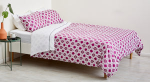 PURPLE OGEE DUVET COVER