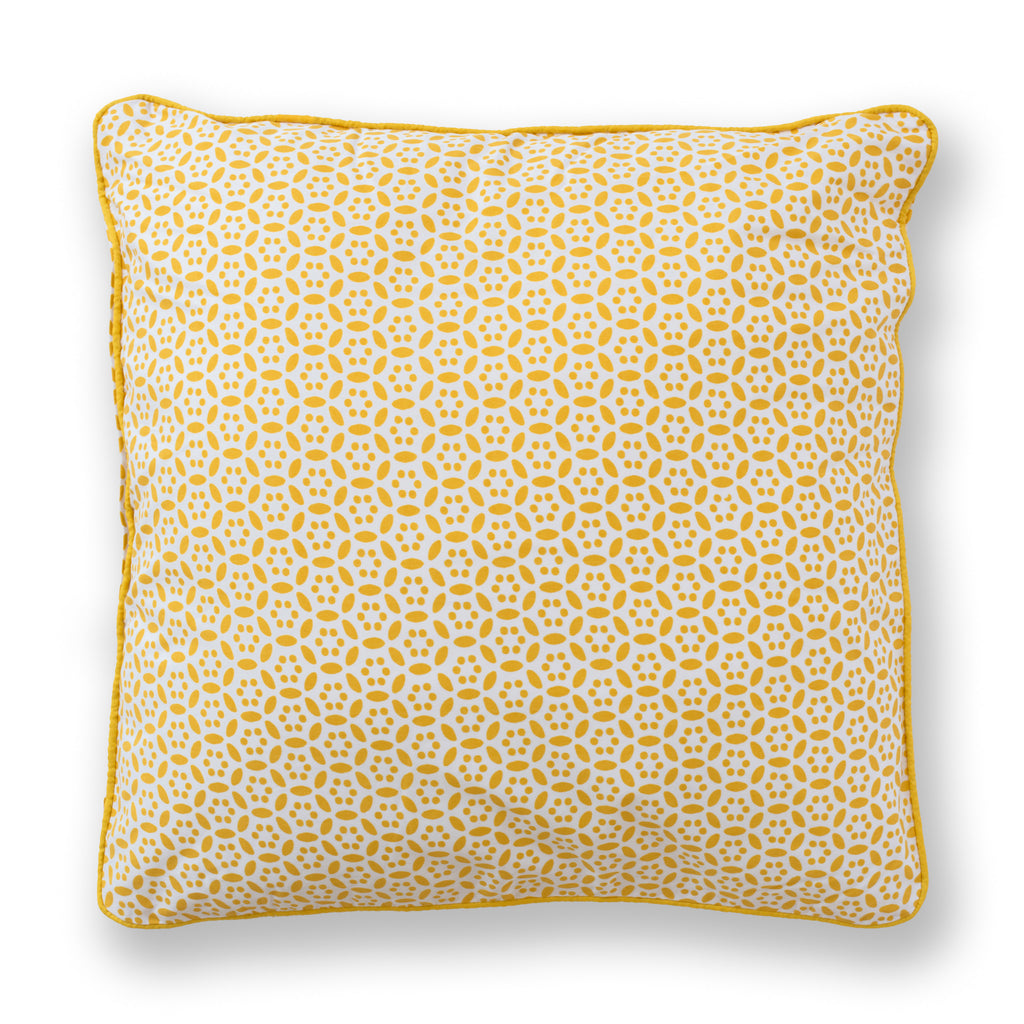 Gold Circles Throw Pillow