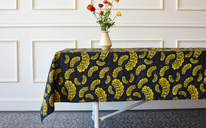 GOLD LEAVES TABLE CLOTH