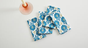 BLUE OTTOMAN TABLE NAPKIN