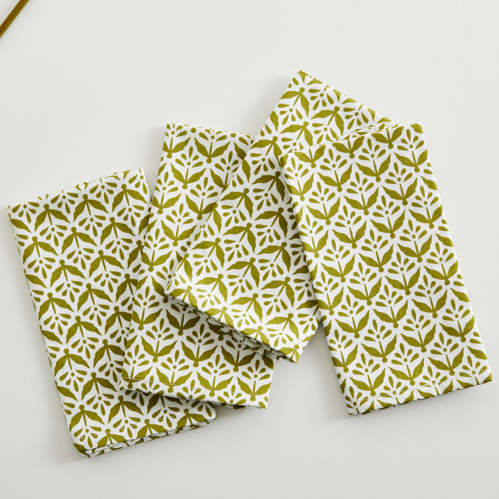 OLIVE PLANTS TABLE NAPKIN