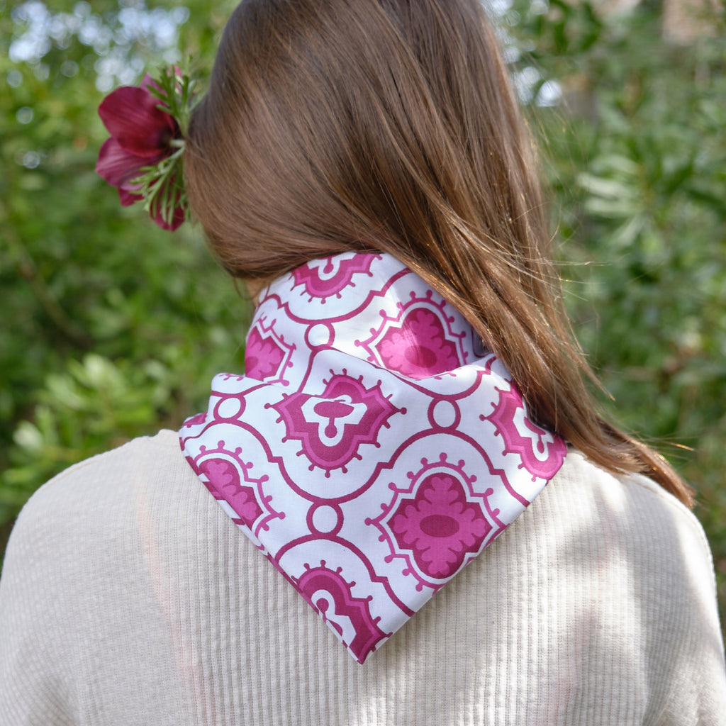 Purple Ogee Bandanna