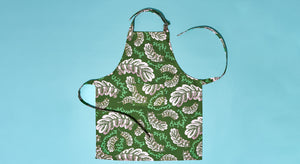 PINK LEAVES KIDS APRON