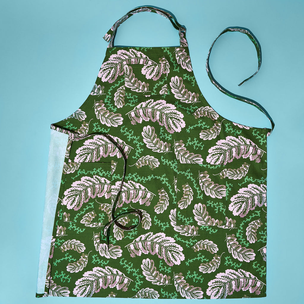 PINK LEAVES CHEF APRON