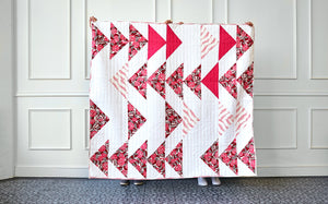 HANDMADE PINK TRIANGLES QUILT