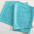TEAL SQUARES TABLE RUNNER
