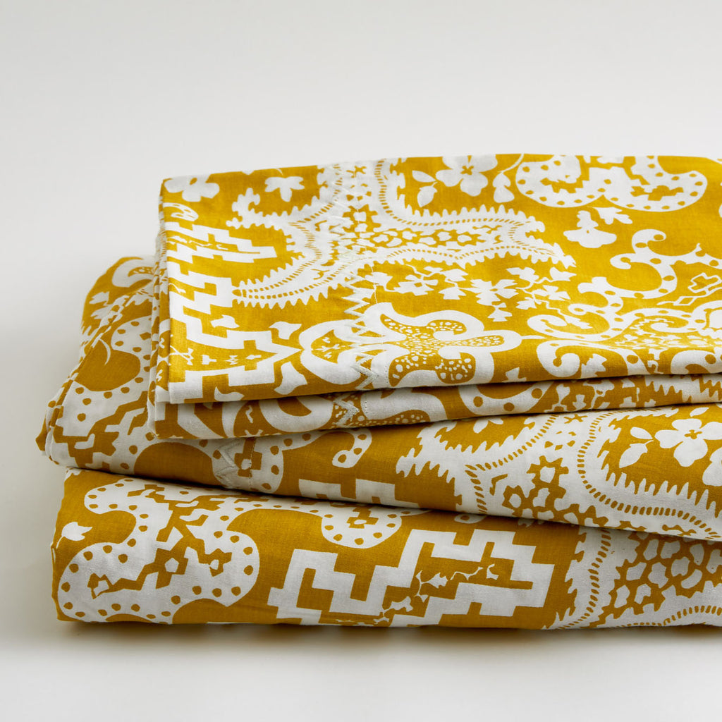 GOLDEN CARTOUCHE SHEET SET